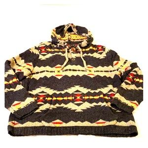 American Eagle Men's Hooded Sweater